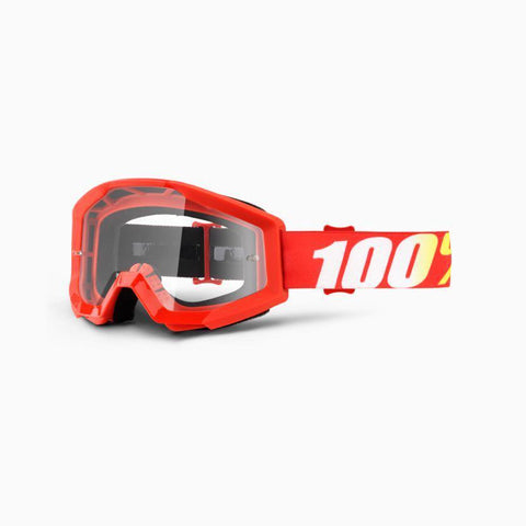 100% Youth Motocross Goggles 2018 100% Strata MX YOUTH Motocross Goggles - Furnace - Clear Lens