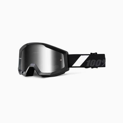 100% Youth Motocross Goggles 2018 100% Strata MX YOUTH Motocross Goggles - Goliath - Mirror Silver Lens