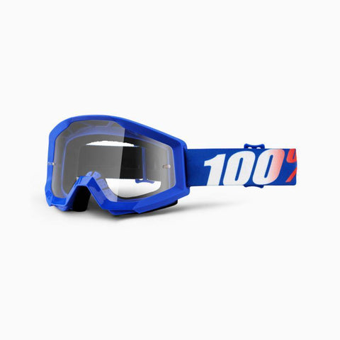 100% Youth Motocross Goggles 2018 100% Strata MX YOUTH Motocross Goggles - Nation - Clear Lens