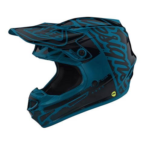 Troy Lee YOUTH SE4 19 MX Motocross & Enduro Helmet - Factory Ocean
