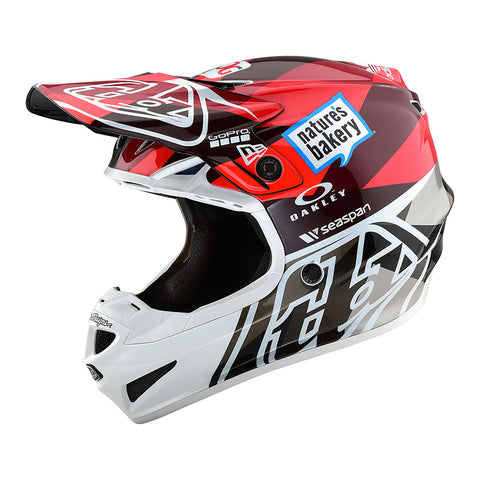 Troy Lee YOUTH SE4 19 MX Motocross & Enduro Helmet - Orange/Grey