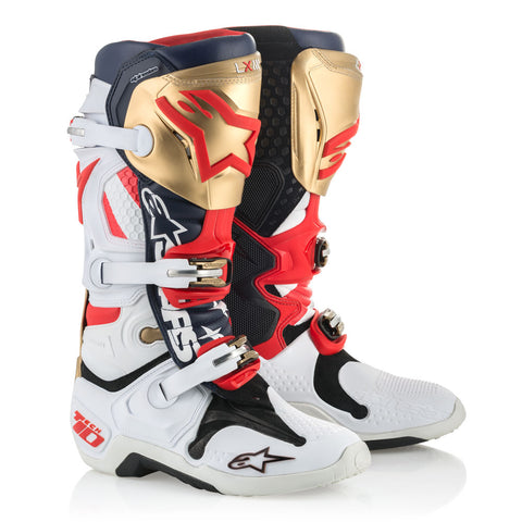 2019 Alpinestars Tech 10 Boots LE Liberty - Red/White/Blue