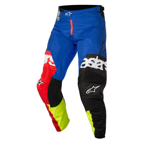 2018 Alpinestars Motocross Pants 2018 Alpinestars Racer Flagship MX Motocross Pants - Red, Yellow Fluo & Blue