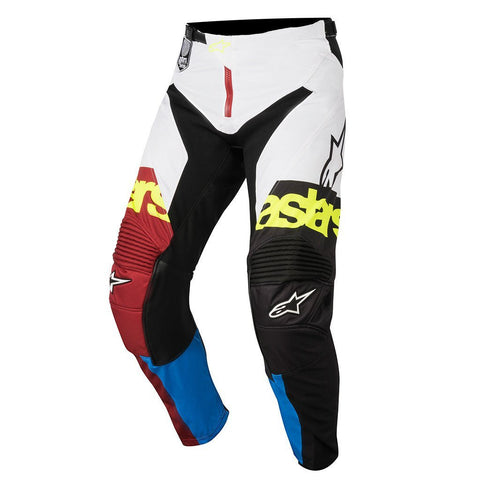 2018 Alpinestars Motocross Pants 2018 Alpinestars Racer Flagship MX Motocross Pants - Rio Red, Aqua & White