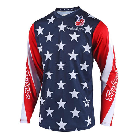 2018 Motocross Gear 2018 Troy Lee GP Star LE YOUTH MX Motocross Jersey - Navy