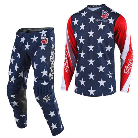 2018 Motocross Gear 2018 Troy Lee GP Star LE YOUTH MX Motocross Kit Combo - Navy