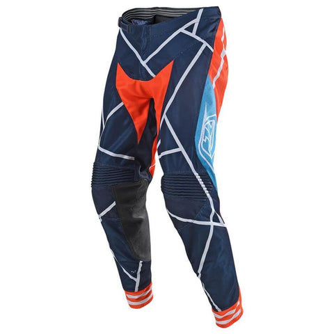 2018 Motocross Gear 2018 Troy Lee SE AIR 18.1 Metric MX Motocross Pants - Navy / Orange