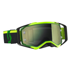 Scott Prospect Motocross Goggles - Black Green Flou Yellow Chrome