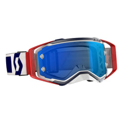 Scott Prospect Motocross Goggles - Red White Electric Blue Chrome