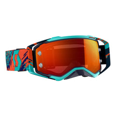 Scott Prospect Motocross Goggles - Blue Orange Yellow Chrome