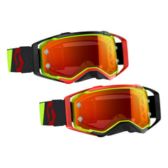 Scott Prospect Motocross Goggles - Red Yellow Flou Orange Chrome