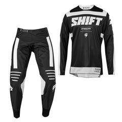 2019 Shift Whit3 Label York YOUTH MX Motocross & Enduro Kit Combo - Black