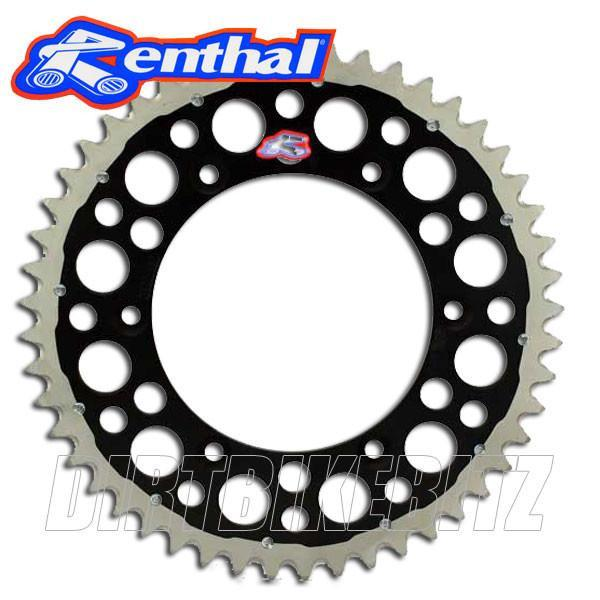 49 / 1980 / RM125 Renthal TwinRing Rear Sprocket - Suzuki (BLACK)