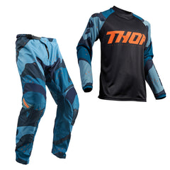 Thor 2019 Sector MX Motocross & Enduro Kit Combo - Blue Camo