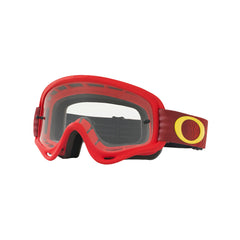 Oakley XS O Frame MX Motocross Goggles - Shockwave Red/Yellow - Clear Lens