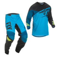 2019 Fly Youth F-16 MX Motocross & Enduro Kit Combo - Blue/Black/Hi-viz