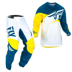 2019 Fly Youth F-16 MX Motocross & Enduro Kit Combo - Yellow/White/Navy