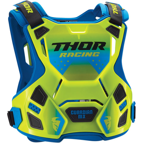 Thor 2019 Guardian MX Motocross & Enduro Chest Protector - Flo Yellow/Blue