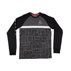 Leatt Tribal Mens Long Sleeve T-Shirt - Grey/Black
