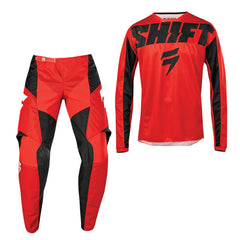 2019 Shift Whit3 Label York YOUTH MX Motocross & Enduro Kit Combo - Red
