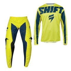 2019 Shift Whit3 Label York YOUTH MX Motocross & Enduro Kit Combo - Yellow