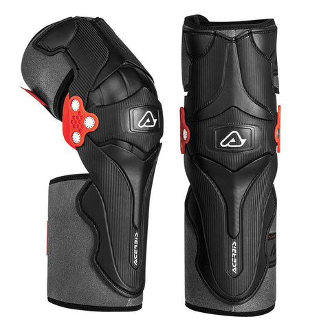 Acerbis Motocross Body Protection 2017 Acerbis X-Strong Knee Guards - Black / Red