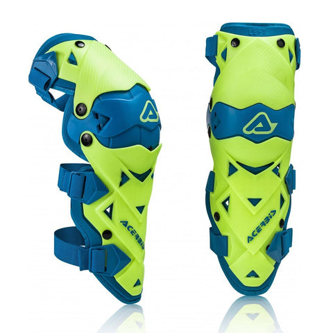 Acerbis Motocross Body Protection 2018 Acerbis Impact EVO 3.0 Knee Guards - Fluo Yellow / Blue