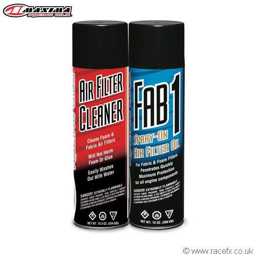 Air Filter Oil & Cleaner Maxima Filter Aerosol Maintenance Combo Kit  2 Pack
