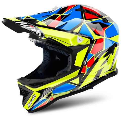 Airoh Archer Youth Motocross Helmets 2018 Airoh Archer Junior YOUTH Motocross Helmet - Chief Blue - X-Small