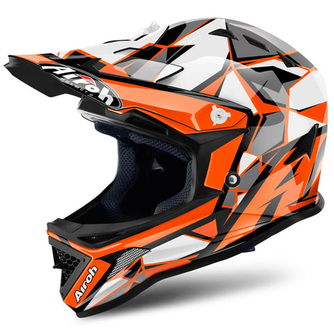 Airoh Archer Youth Motocross Helmets 2018 Airoh Archer Junior YOUTH Motocross Helmet - Chief Orange