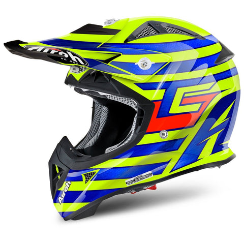 Airoh Aviator Youth Motocross Helmets 2018 Airoh Aviator Junior YOUTH Motocross Helmet - Tony Cairoli Qatar Replica