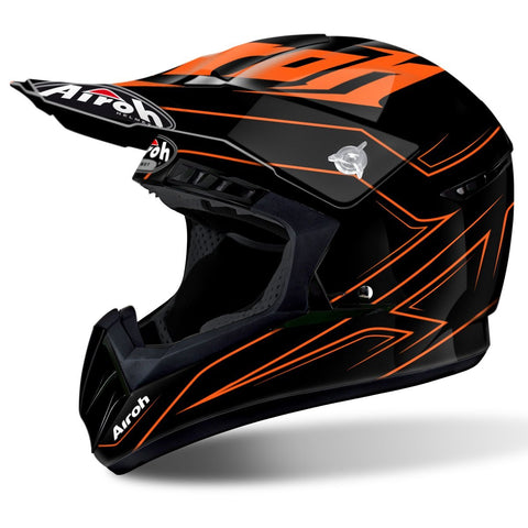 Airoh Switch Motocross Helmets 2018 Airoh Switch Motocross Helmet - Spacer Orange Gloss