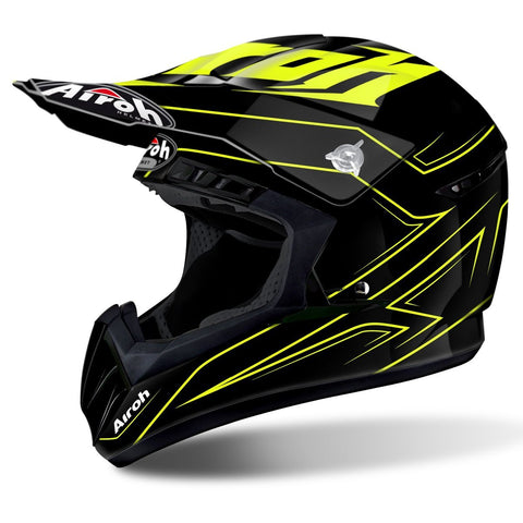 Airoh Switch Motocross Helmets 2018 Airoh Switch Motocross Helmet - Spacer Yellow Gloss