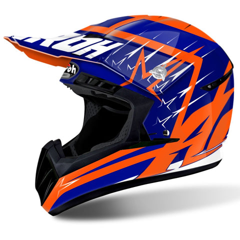 Airoh Switch Motocross Helmets 2018 Airoh Switch Motocross Helmet - Startruck Blue Gloss