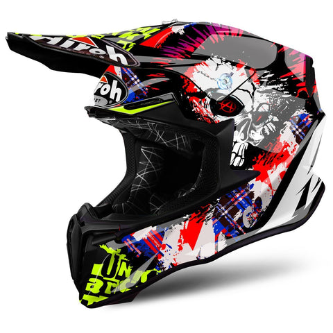 Airoh Twist Motocross Helmet 2018 Airoh Twist Motocross Helmet - Crazy Black