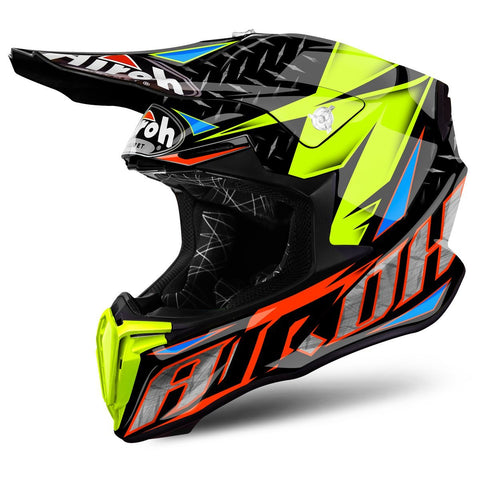 Airoh Twist Motocross Helmet 2018 Airoh Twist Motocross Helmet - Iron Orange