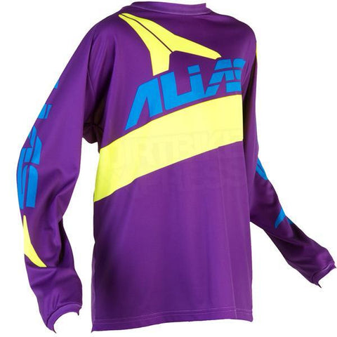 Alias Motocross Clearance Jerseys 2017 Alias YOUTH A2 Bars Jersey - Neon Yellow / Purple - Large