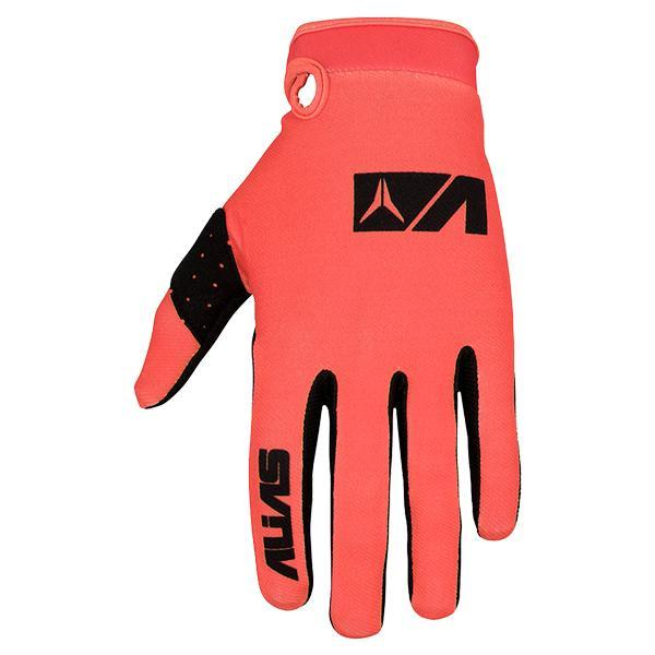 Alias Motocross Gloves 2018 Alias AKA Lite MX Motocross Gloves - Neon Red