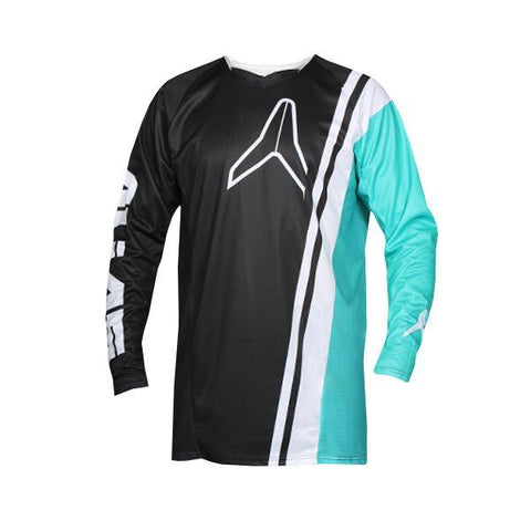 Alias Motocross Jerseys 2018 Alias A1 Offset MX Motocross Jersey - Black / Seafoam