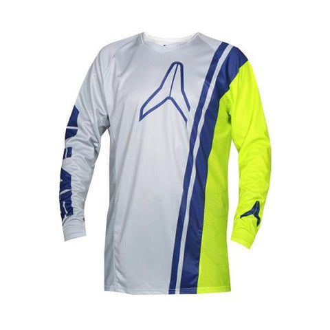 Alias Motocross Jerseys 2018 Alias A1 Offset MX Motocross Jersey - Grey / Chartreuse