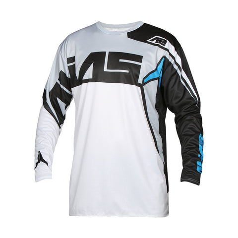Alias Motocross Jerseys 2018 Alias A2 Burst MX Motocross Jersey - Black / White