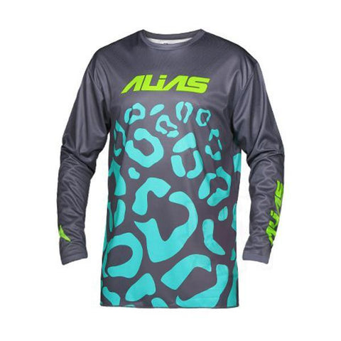 Alias Motocross Jerseys 2018 Alias YOUTH A2 Cheetah MX Motocross Jersey - Grey Seafoam