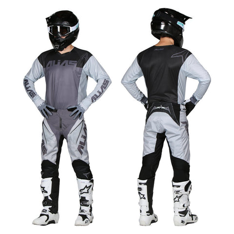 Alias Motocross Kit Combos 2018 Alias A1 Classic MX Motocross Kit Combo - Black / Grey