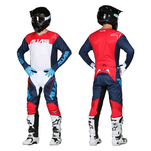 Alias Motocross Kit Combos 2018 Alias A1 Classic MX Motocross Kit Combo - Navy / Red