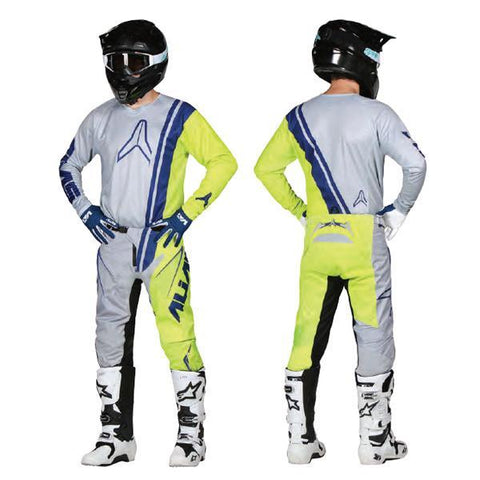 Alias Motocross Kit Combos 2018 Alias A1 Offset MX Motocross Kit Combo - Grey / Chartreuse