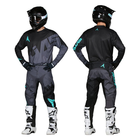 Alias Motocross Kit Combos 2018 Alias A2 Trifecta MX Motocross Kit Combo - Charcoal / Black