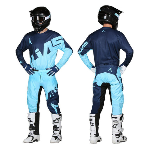 Alias Motocross Kit Combos 2018 Alias A2 Trifecta MX Motocross Kit Combo - Sky Blue / Navy
