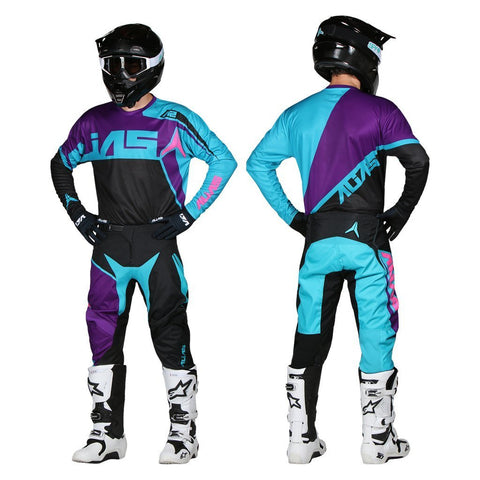 Alias Motocross Kit Combos 2018 Alias YOUTH A2 Burst MX Motocross Kit Combo - Black / Aqua