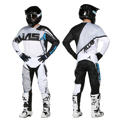Alias Motocross Kit Combos 2018 Alias YOUTH A2 Burst MX Motocross Kit Combo - Black / White