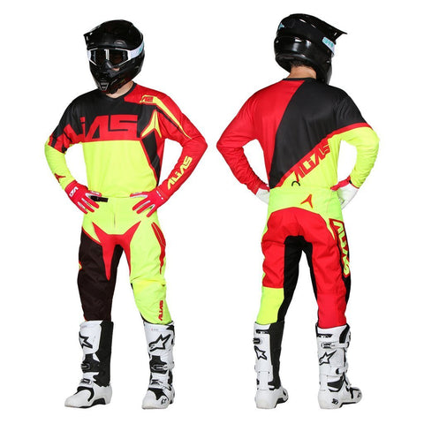 Alias Motocross Kit Combos 2018 Alias YOUTH A2 Burst MX Motocross Kit Combo - Neon Yellow / Red